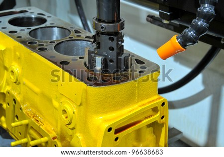 Drilling of an engine block