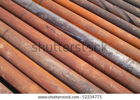 Drilling pipe - stock photo