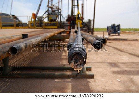 Drilling pipe in the west Texas oilfield Сток-фото ©