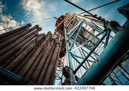drilling rig Stockfoto ©