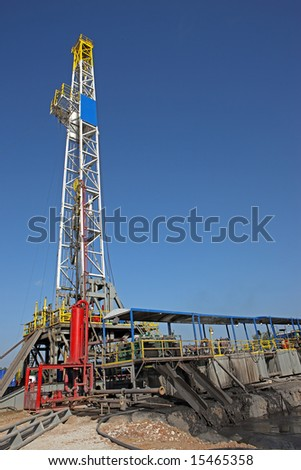 Drilling rig on a location