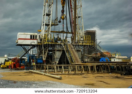 Drilling Well Platform and Campus View
