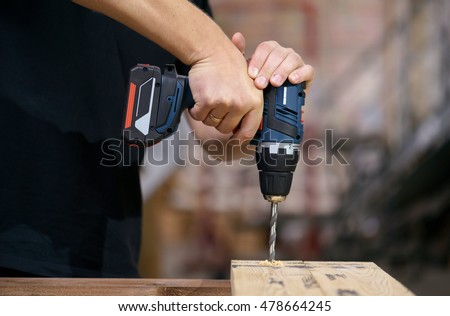 drilling wood battery drill