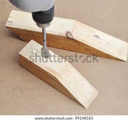 Drilling wooden board