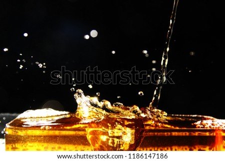 Drink background / A drink is a liquid intended for human consumption Common types of drinks include plain drinking water, milk, coffee, tea, hot chocolate and soft drinks #1186147186