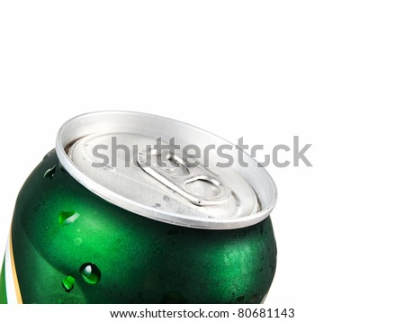 Drink can - beer isolated on white background