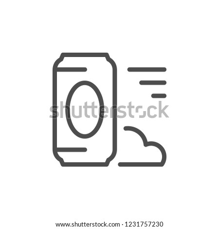 Drink can line icon isolated on white