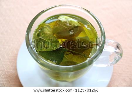 Drink Coca leaf tea for preventing altitude sickness, Puno, Peru