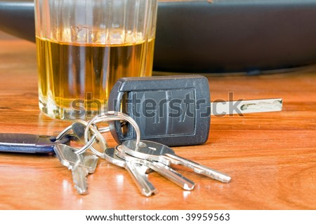 drink driving whiskey and keys