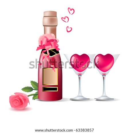 Drink for date. Raster version. Vector version is in my gallery.