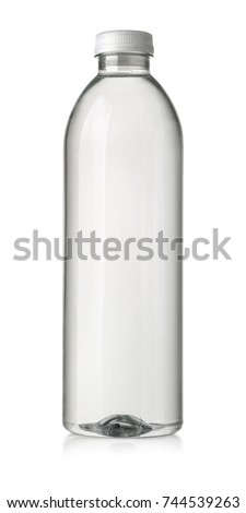 drink in plastic bottle on white background. with clipping path