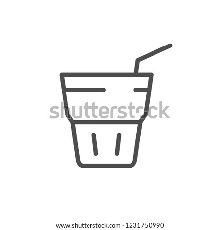 Drink line icon isolated on white