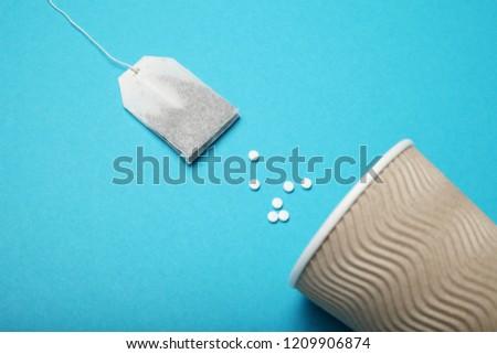 Drink sweetener in tea. Sucralose, Aspartame, Stevia.