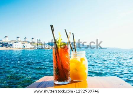 Drinking Cocktails in Mykonos