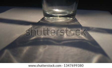 Drinking Glass bottom with shadow pics