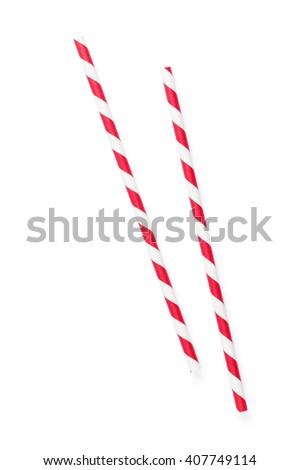 Drinking straws. Isolated on white background #407749114