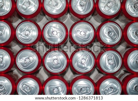 drinks in aluminum cans