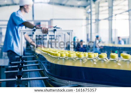 Shutterstock drinks production plant in China