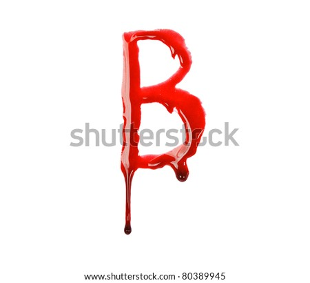 Dripping blood fonts the letter B