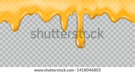 Dripping honey. Dripping syrup honey drippings honeyed caramel nectar delicious sauce tasty molten golden oil frame isolated illustration
