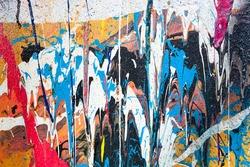 Dripping paint graffiti wall background