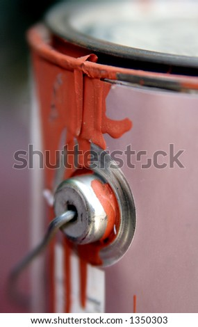 Drippy paint can. - stock photo
