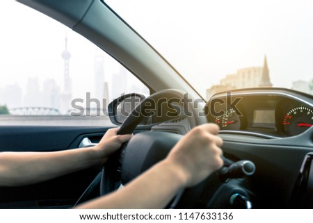 Drive a vehicle to travel #1147633136