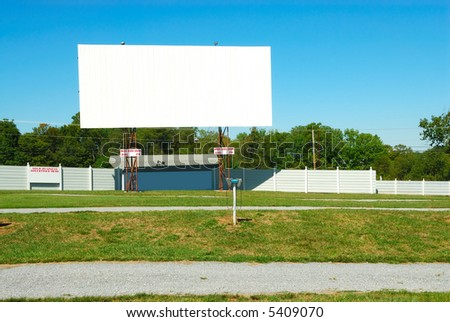 Drive In Theater on a summer day.