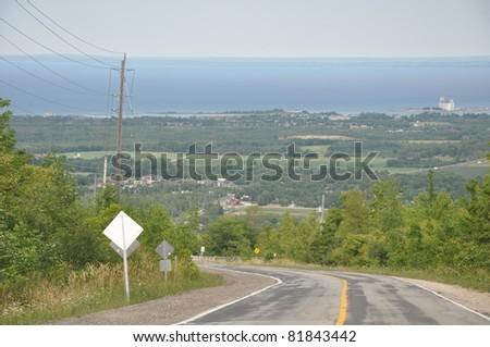 Drive through Blue Mountain in Ontario, Canada