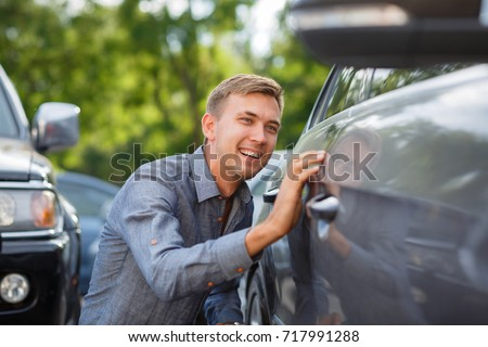 Driver checking the car before used or buy and sell,mechanic service #717991288