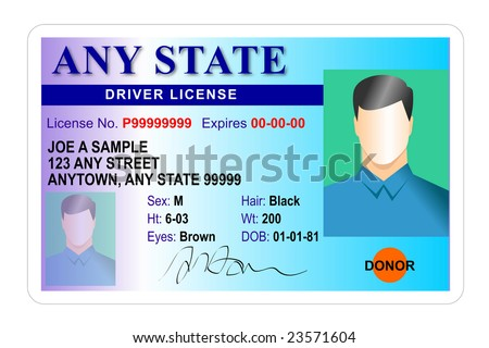 Driver license Identification card