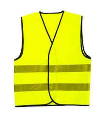 driver safety vest isolated