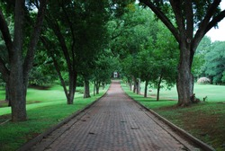 Driveway going to Provost/President of a university