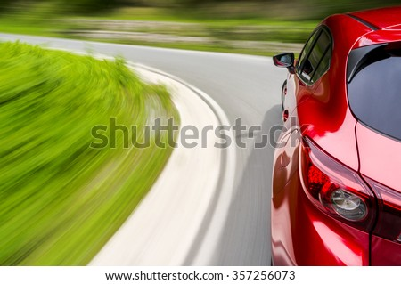 Driving a car fast in a curve