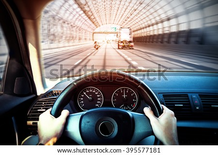 Photo of  Driving a car - first person shoot