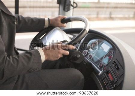 Driving bus #90657820
