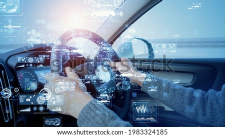 Driving car and technology concept. ITS. MaaS. Stockfoto ©