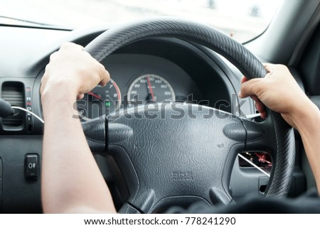 Driving in car #778241290
