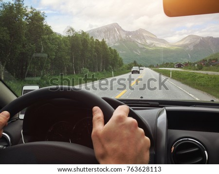 driving in norway  scenic...