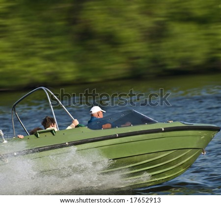 Driving motorboat