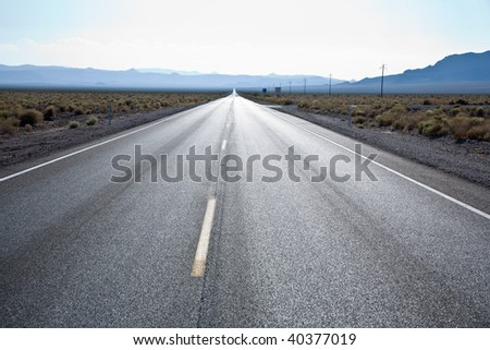 driving on state Route 190 to Death Valley