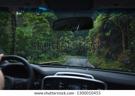 Driving the Windy Road to Hana in Maui, HI