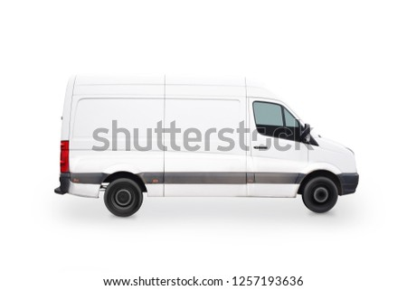 Driving van isolated on white background #1257193636