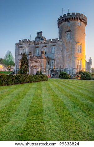 Dromoland castle at dusk - Ireland.