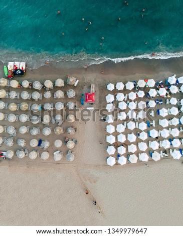 Drone beach aerial view #1349979647