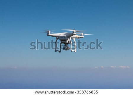 drone flying.