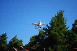 drone in the air hovering