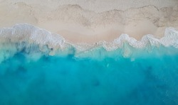 Drone panorama Grace Bay, Providenciales, Turks and Caicos