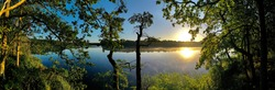 Drone Panoramic Brandenburg Oberhavel Lake Autumn
