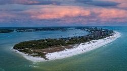 Drone photo of Fort Myers Beach